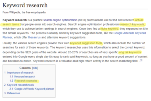 wiki-keyword-research
